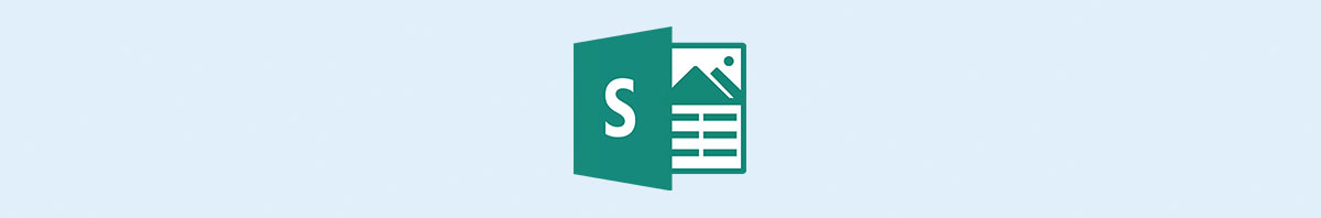 Microsoft Sway's logo against a light blue background