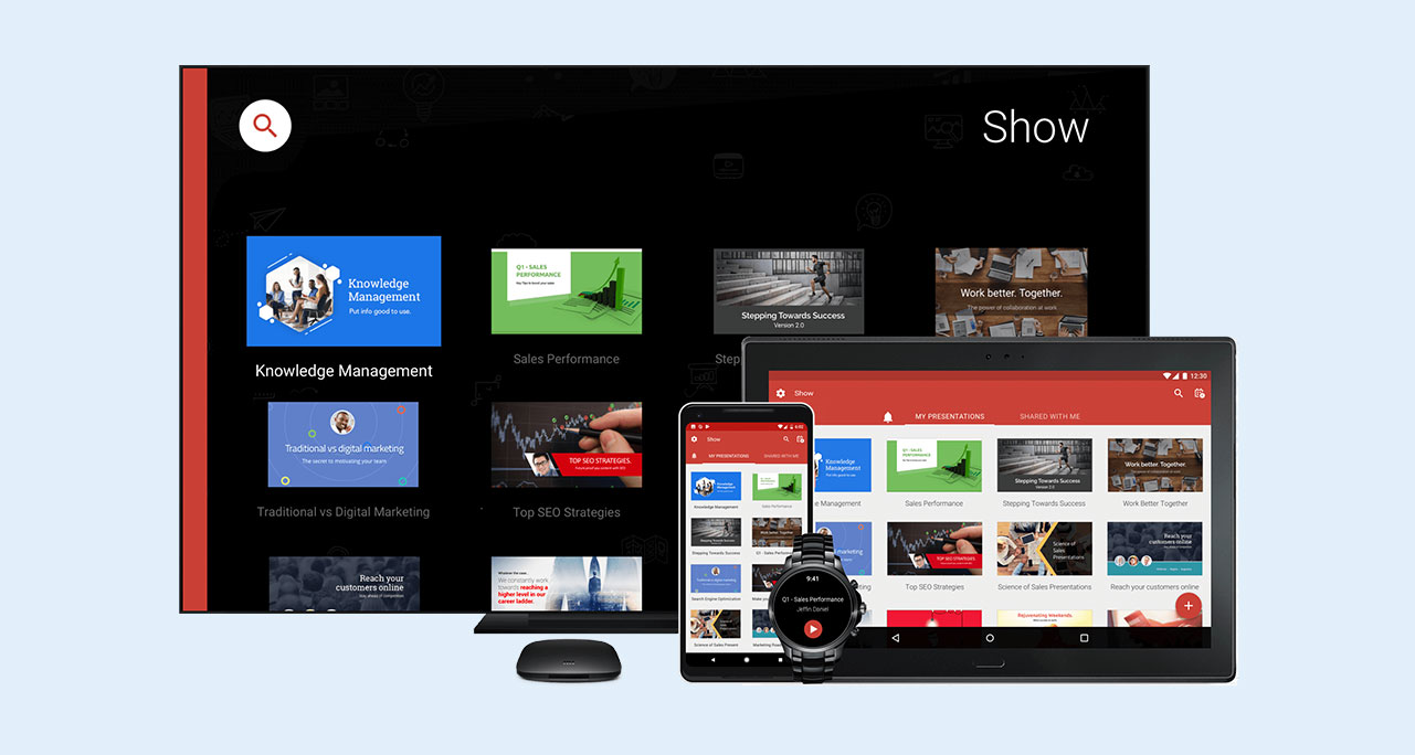 powerpoint alternatives presentation software zoho show screenshot 1