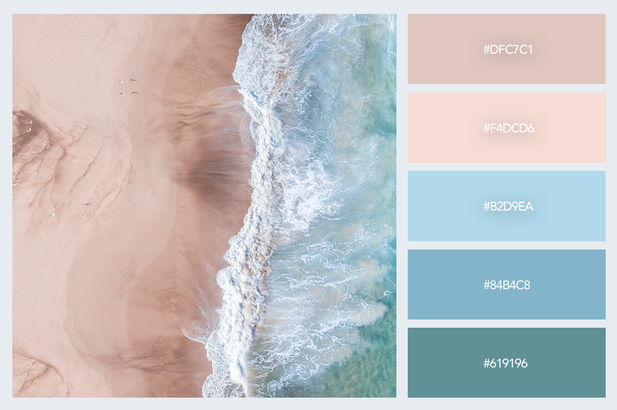 sand water color palette hex codes pastel colors