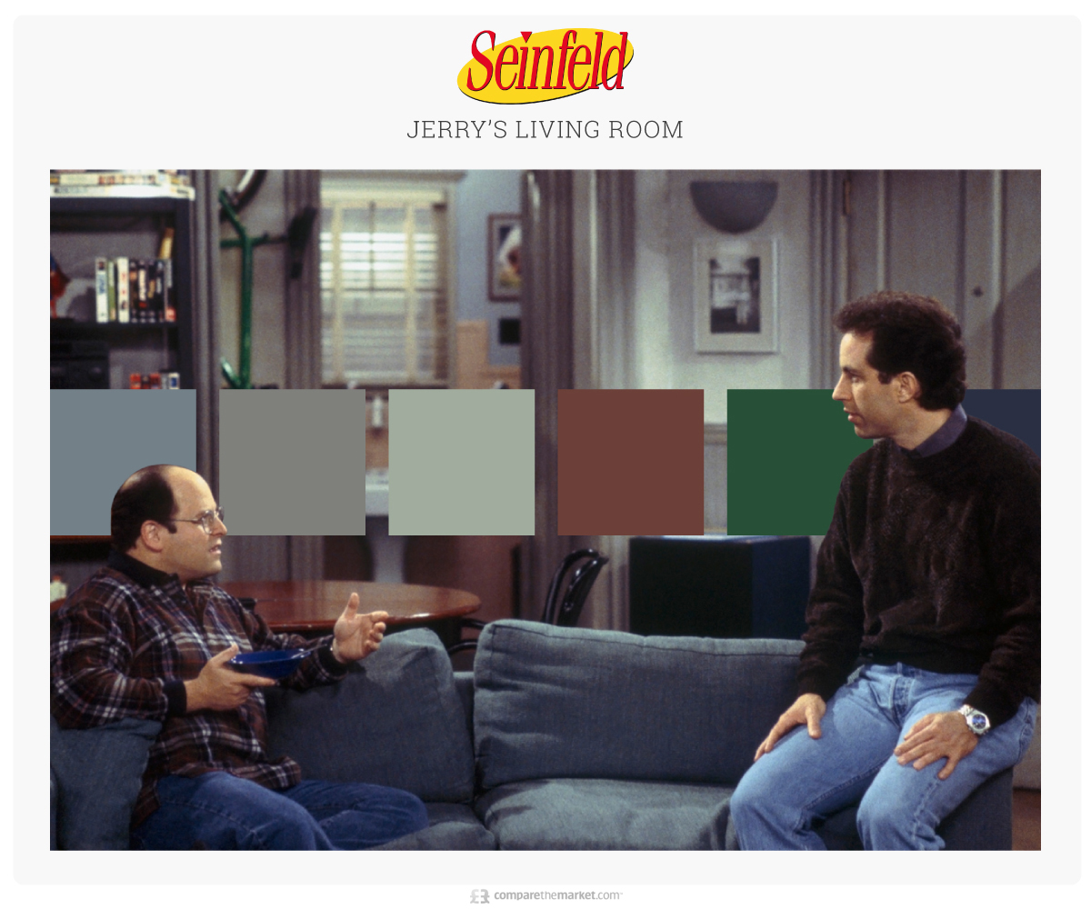 seinfeld living room color palette ideas