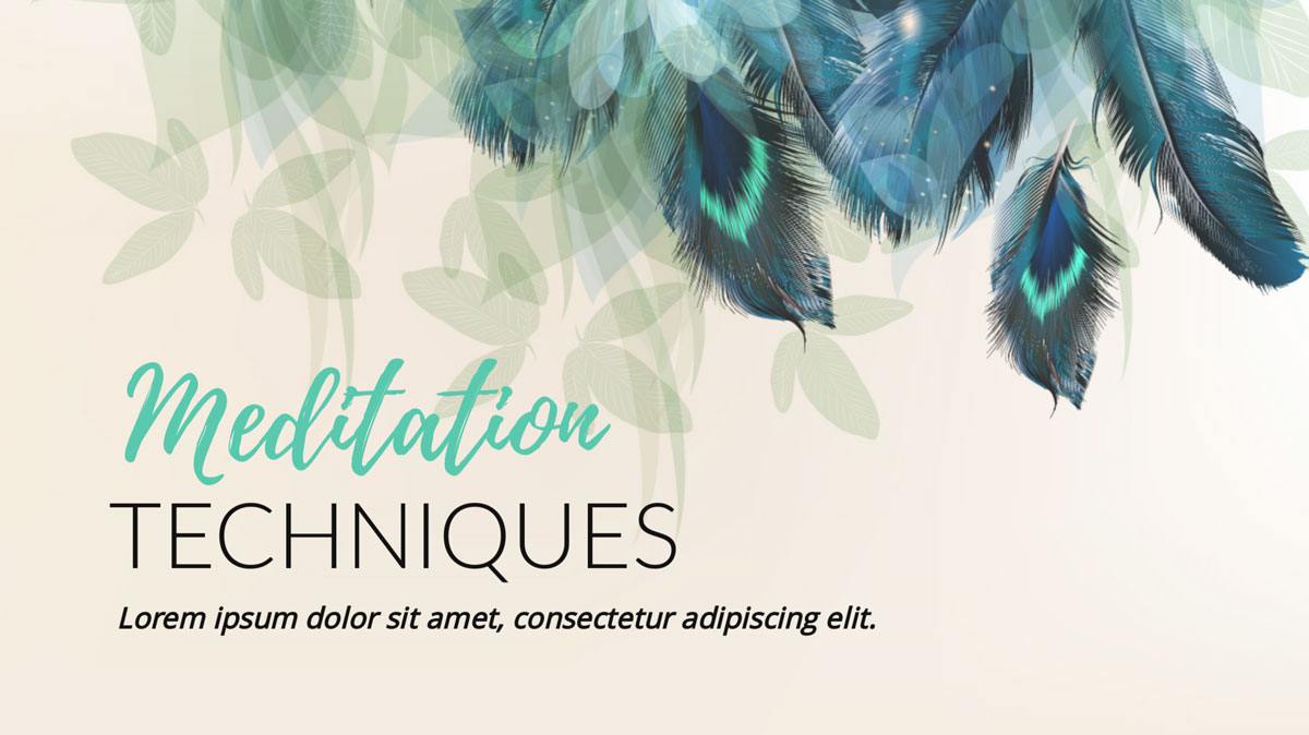 subtle artistic feathers presentation background template