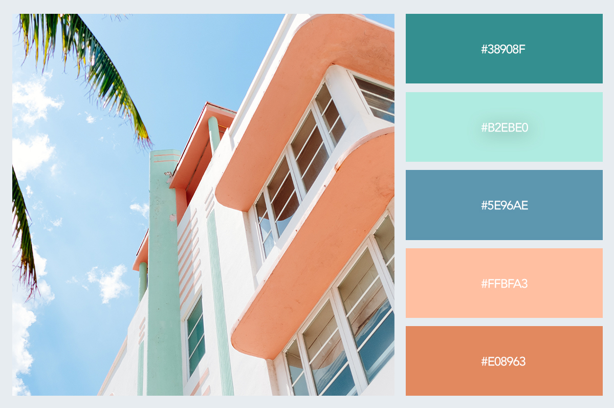 summer beach house color palette hex codes pastel colors visme