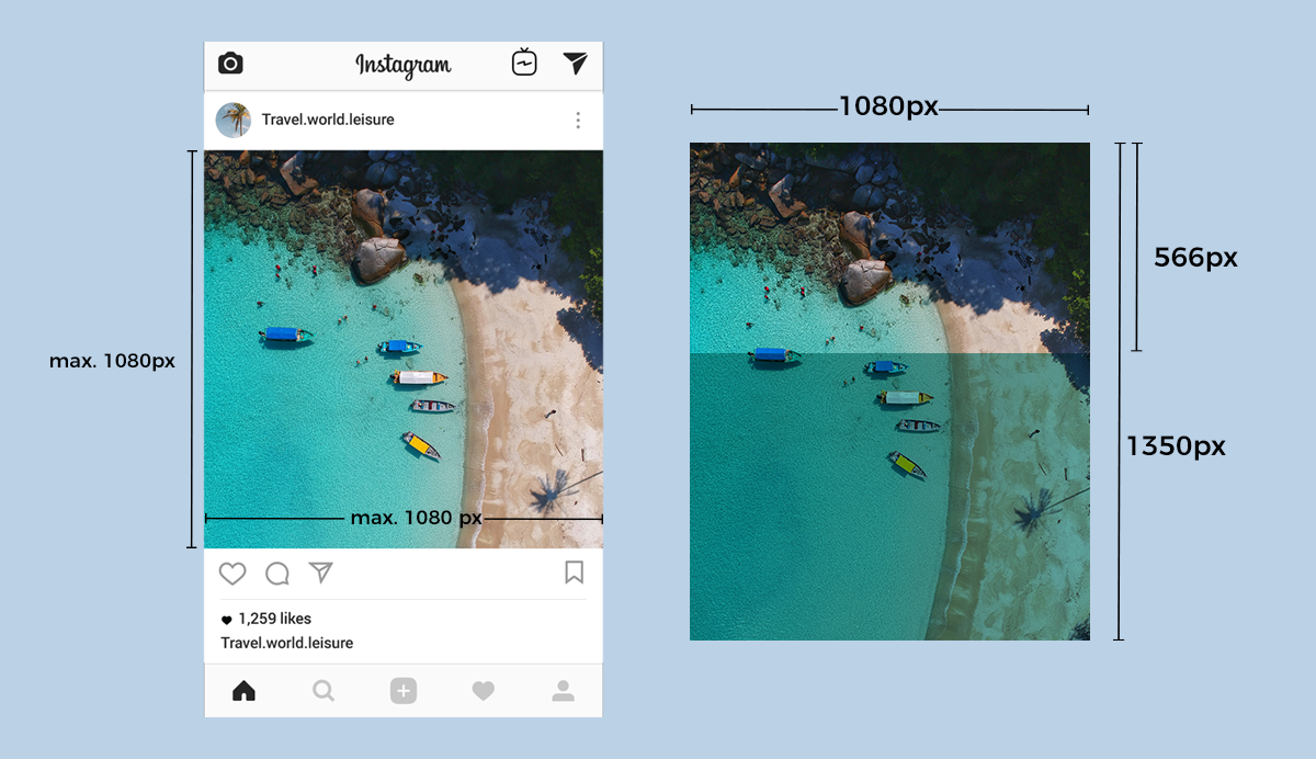 instagram marketing guide max size 1080 px