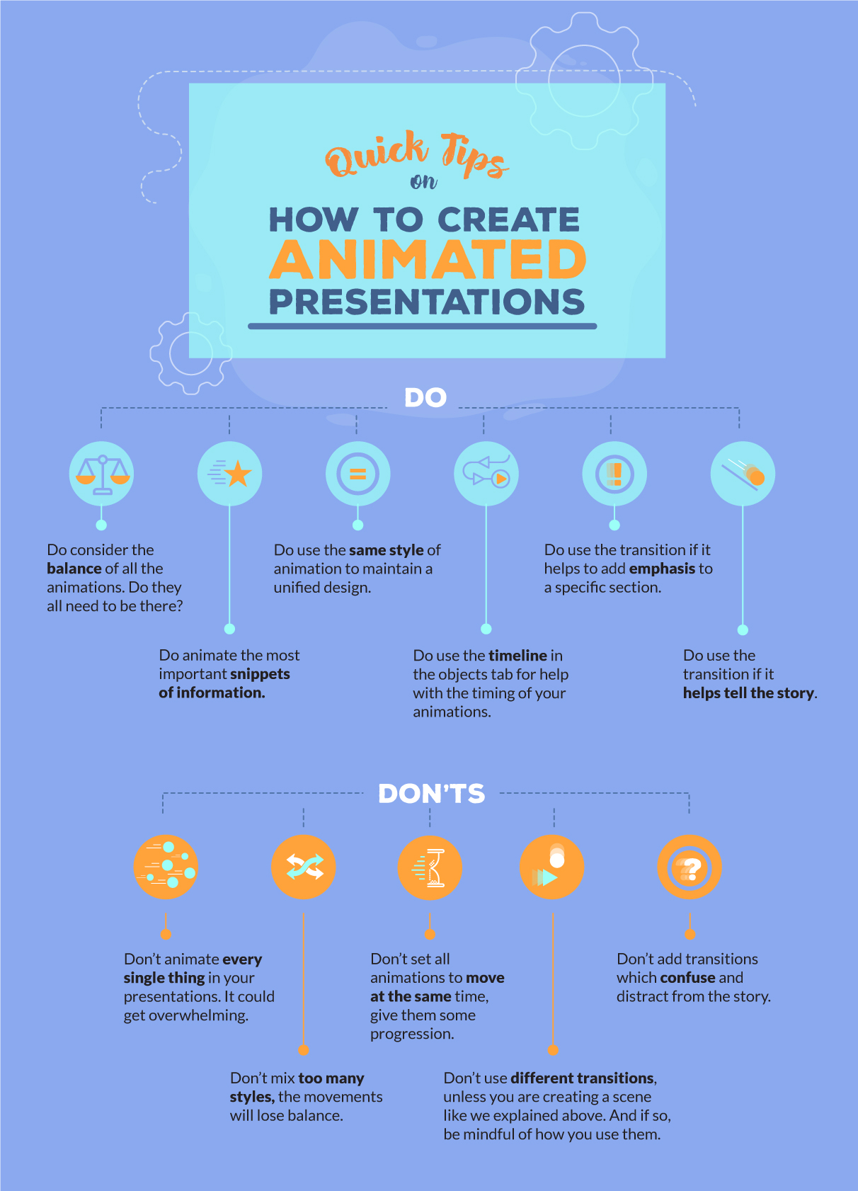 tips and tips for using animation and transitions in your presentations