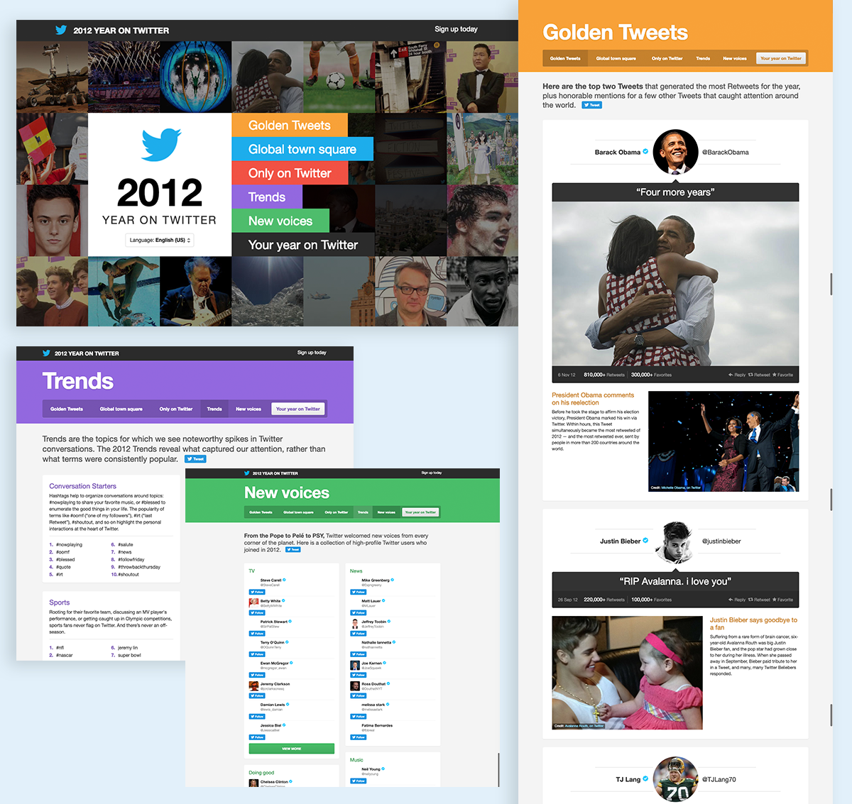 annual report design examples twitter 2012