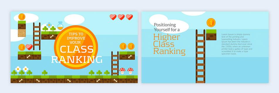use a video game theme creative presentation ideas