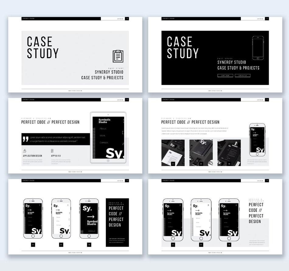 use all caps creative presentation ideas