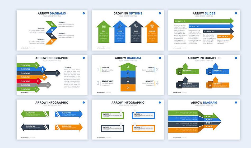 use arrow graphics creative presentation ideas