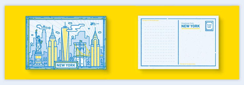 use postcards creative presentation ideas
