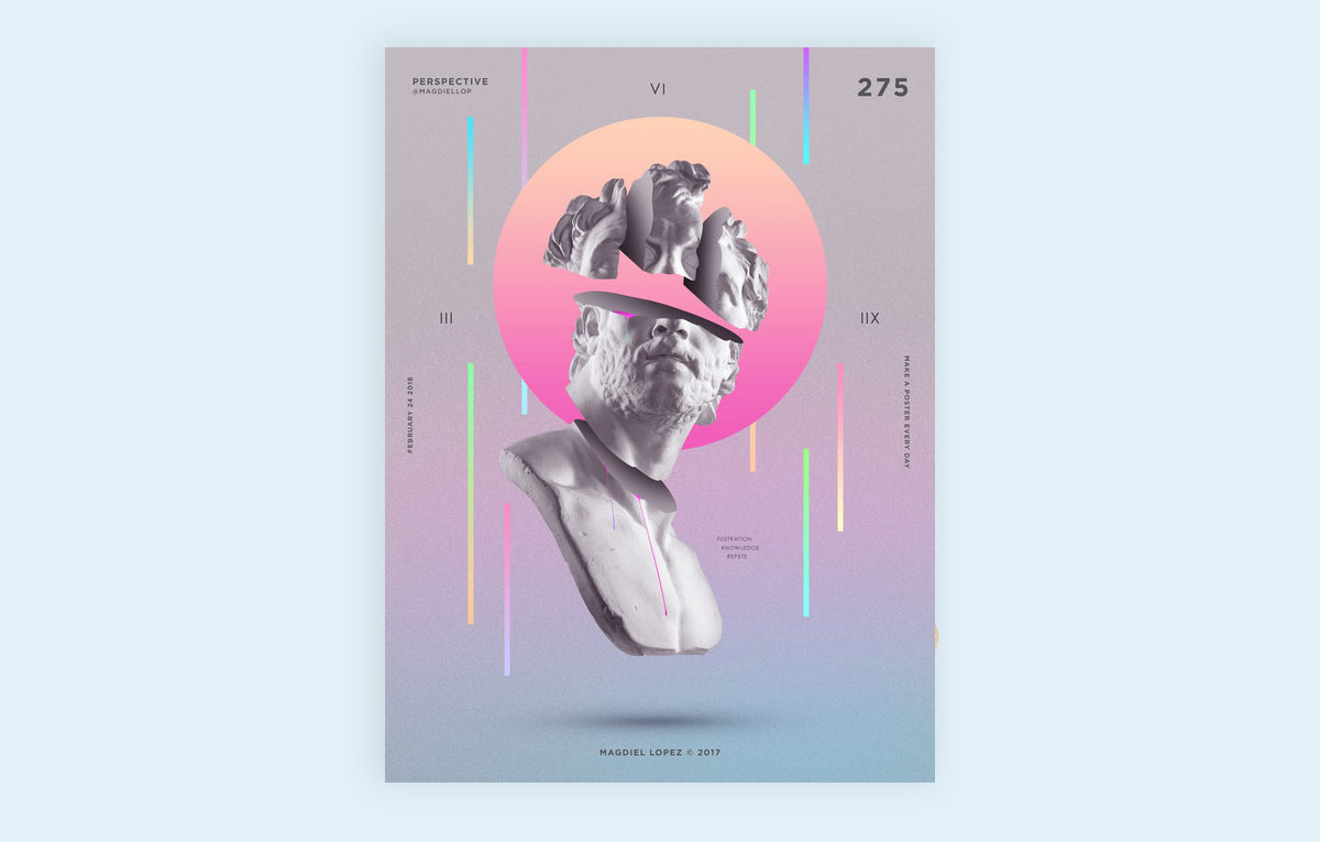 visual design trends example 7-Prism