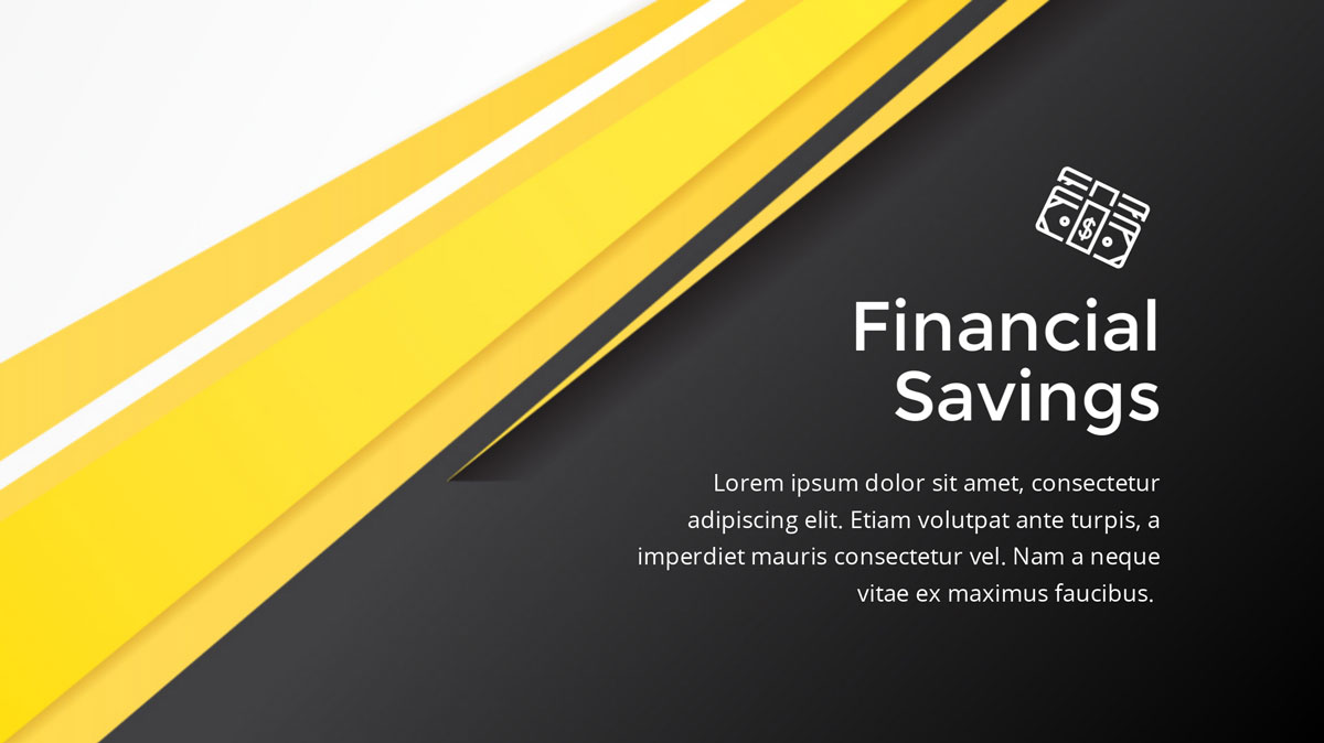 yellow and black presentation background template